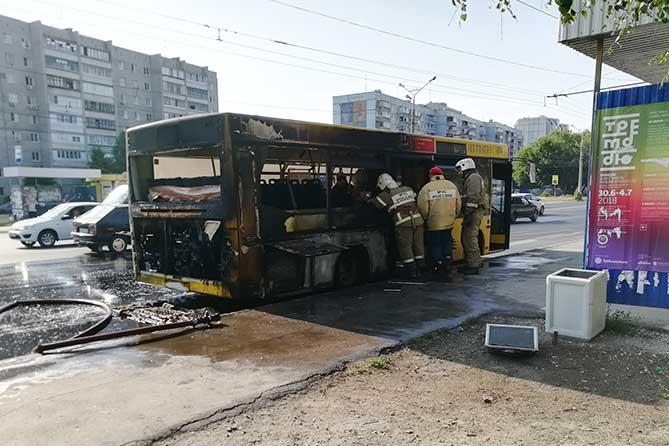 Предварительная причина возгорания автобуса на Автозаводском шоссе