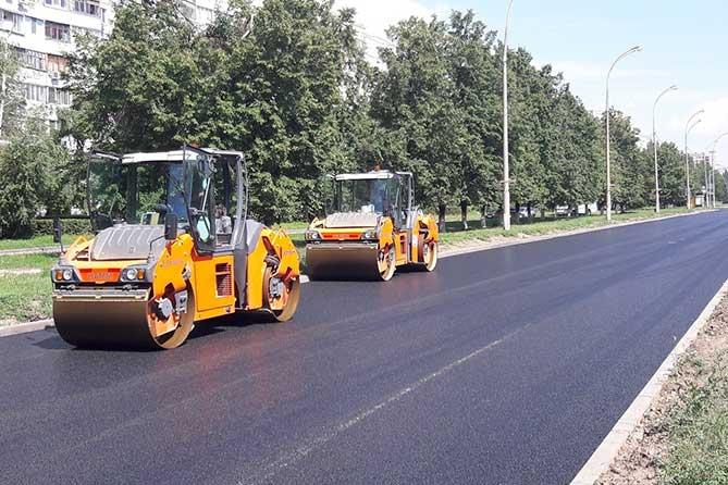 Ремонт дороги на улице Свердлова