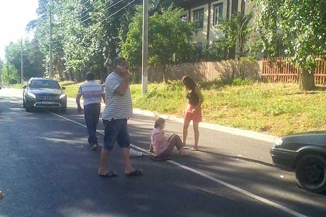 В Портпоселке на пешеходном переходе пострадала женщина