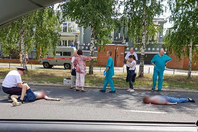 На улице Спортивной водитель сбил двух пешеходов