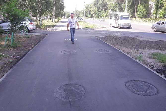 Комиссия проверила ход ремонта улицы Ленина