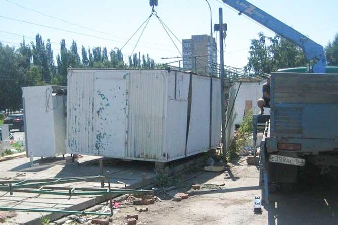 Демонтаж незаконных торговых павильонов в Тольятти