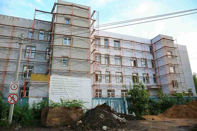 Ход строительства поликлиники в Автозаводском районе Тольятти