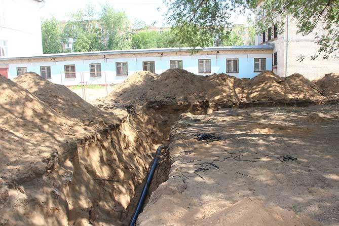 Плановые работы по капитальному ремонту сетей на территории школы-интерната