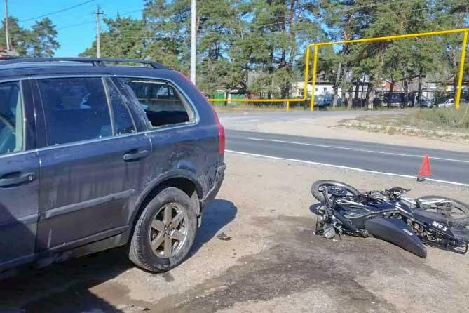 Госпитализирован 16-летний мотоциклист без прав