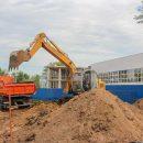 Строительство физкультурно-оздоровительного комплекса в Комсомольском районе идет полным ходом