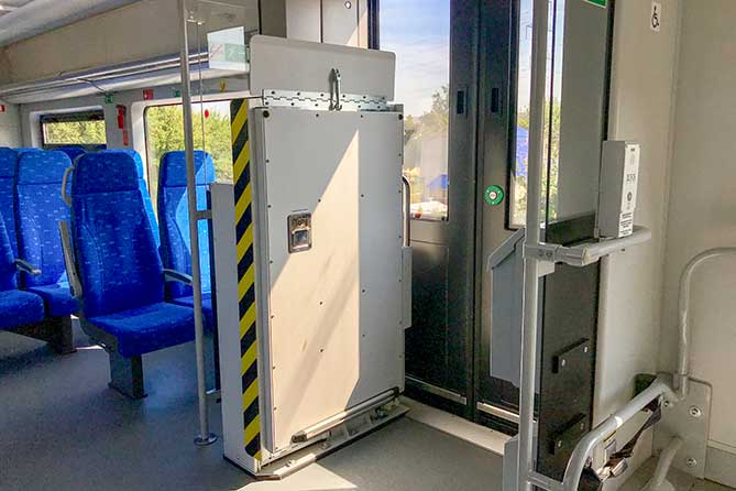 "салон вагона скоростного поезда ""Ласточка"""