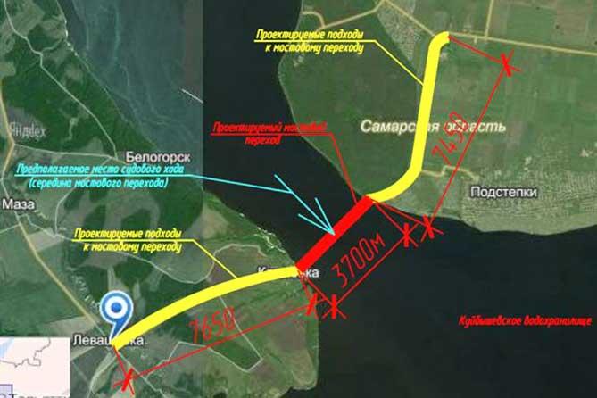 Областное министерство транспорта резервирует земли под строительство моста около Климовки