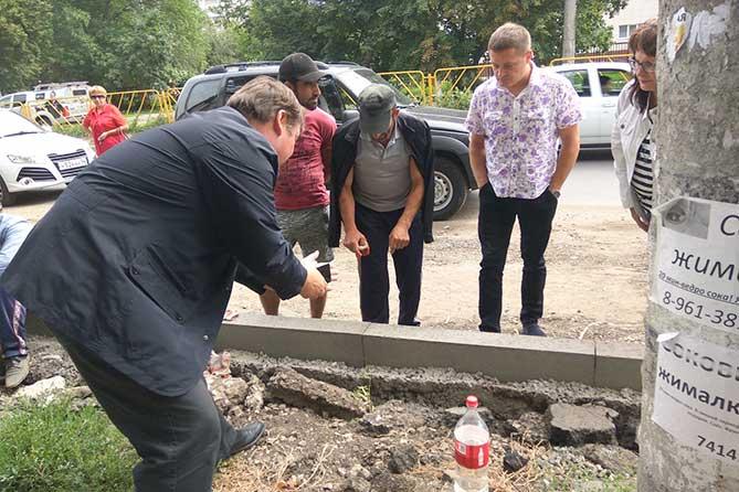 Ход проведения ремонта дороги на улице Горького