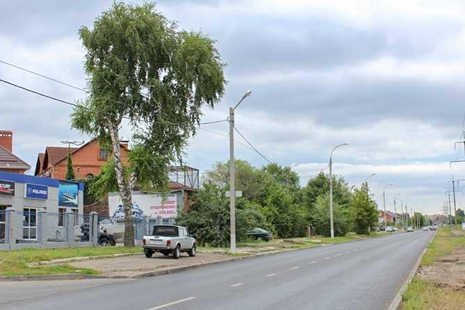 Ремонт дороги на улице Лесной завершен