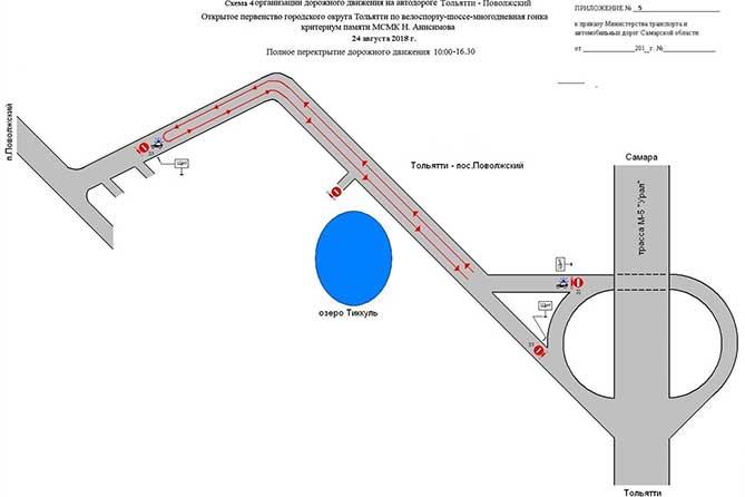 Велогонка в Тольятти 2018: Движение транспорта будет временно перекрыто