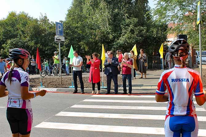 В Тольятти официально открыта новая велосипедная дорожка 8 сентября 2018 года