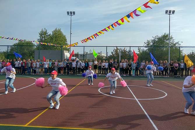 В школе прошел праздник, посвященный открытию спортивной площадки