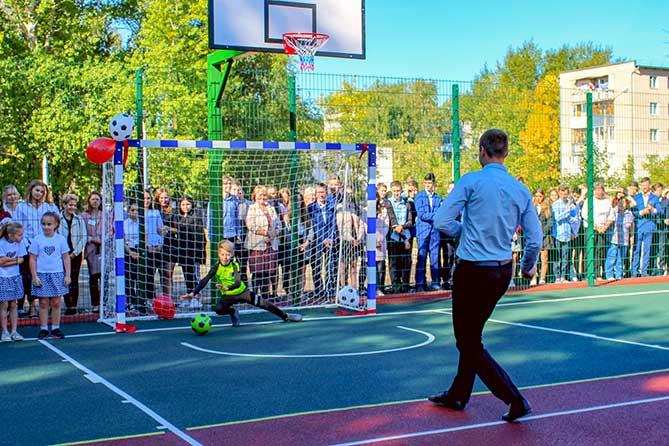 Новая спортивная площадка открыта в школе №10