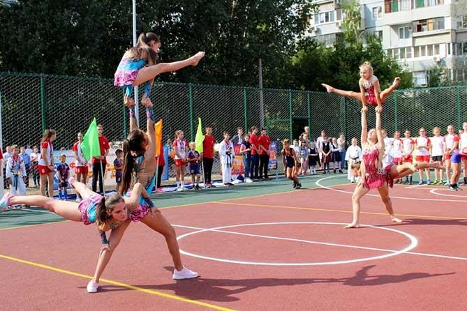 На территории школы №90 прошло торжественное открытие новой спортивной площадки