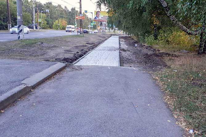Горожане предложили увеличить ширину велодорожки до Портпоселка