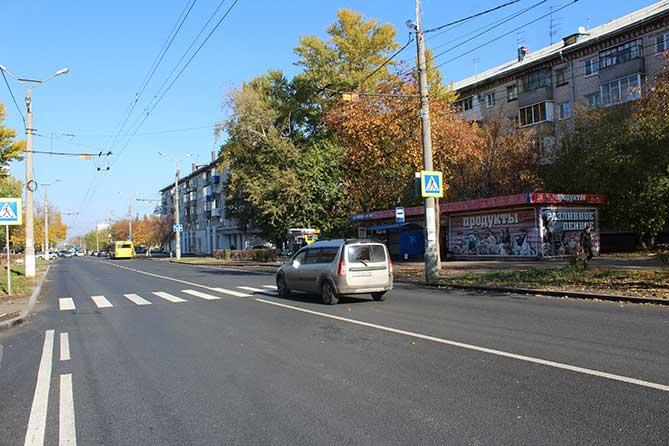Завершен ремонт дороги на улице Ленина