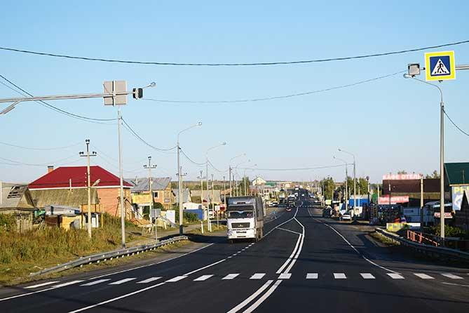 На 974-м километре автомагистрали в Тольятти продолжается строительство