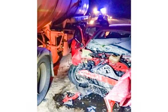 В результате столкновения на автодороге «Тольятти-Ташелка» погибла женщина
