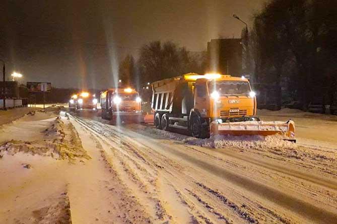 В период снегопада 12 января 2019 года на дороги Тольятти выйдут 84 единицы техники