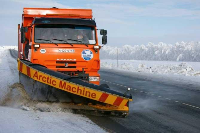 На федеральных трассах Самарской области 12 января 2019 года дорожные предприятия готовы вывести 104 единицы спецтехники