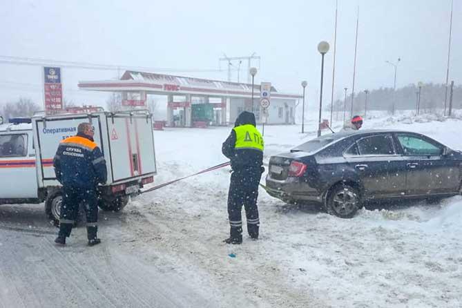 Утром 14 февраля 2019 года в Тольятти на Обводном шоссе произошло четыре ДТП
