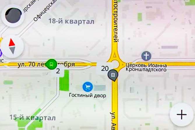 «Яндекс Транспорт» в Тольятти: Появились маршрутки