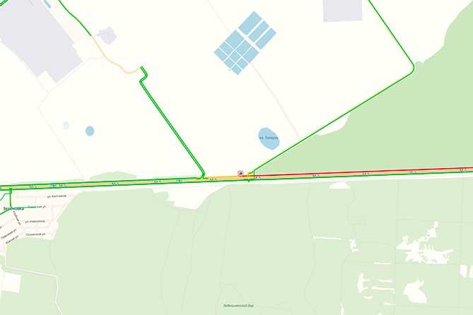 На трассе М-5 в районе Зеленовки из-за ДТП ограничено движение транспорта