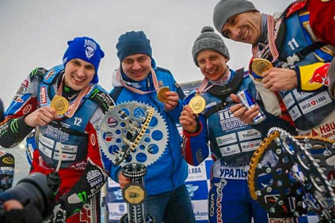 Сборная России в Тольятти победила в финале Командного чемпионата мира по мотогонкам на льду 2019