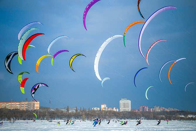 В Тольятти стартовал этап Кубка мира по сноукайтингу 2019