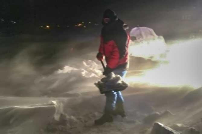 В Ставропольском районе из снежного плена спасли пассажирский автобус 19 февраля 2019 года