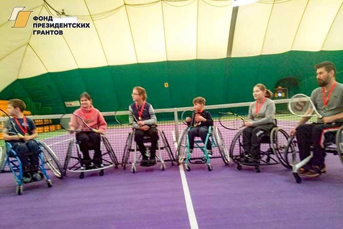 В Тольятти 28 января 2019 года состоялся турнир по теннису на колясках: Шесть участников отмечены медалями