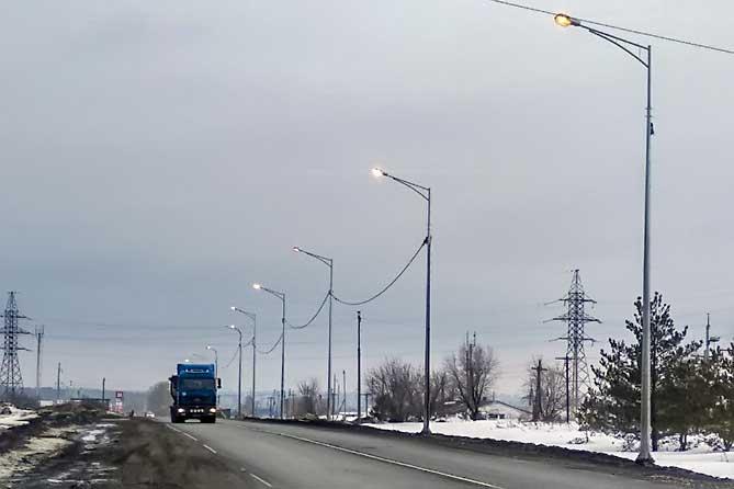 Появилось освещение на первом участке автодороги Тольятти — Димитровград