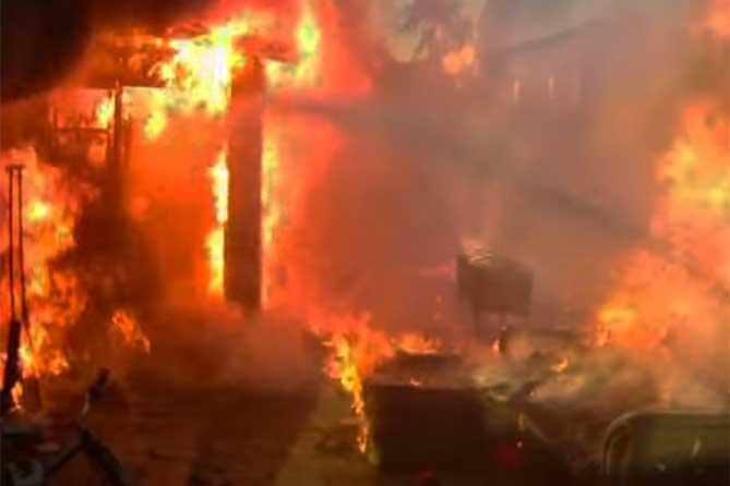 Ночью 20 марта 2019 года при пожаре погиб мужчина, ребенок и женщина спасены