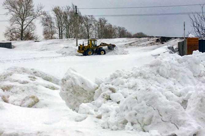 Между Тольятти и Тимофеевкой: Свалили снег и скрылись