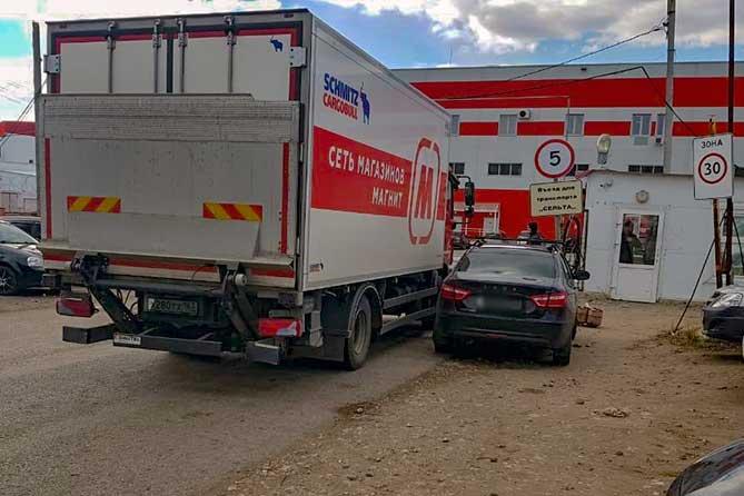 Самопроизвольное движение автомобиля «Лада Веста» привело к ДТП 29 апреля 2019 года