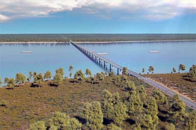 Видеопрезентации нового моста в районе села Климовка