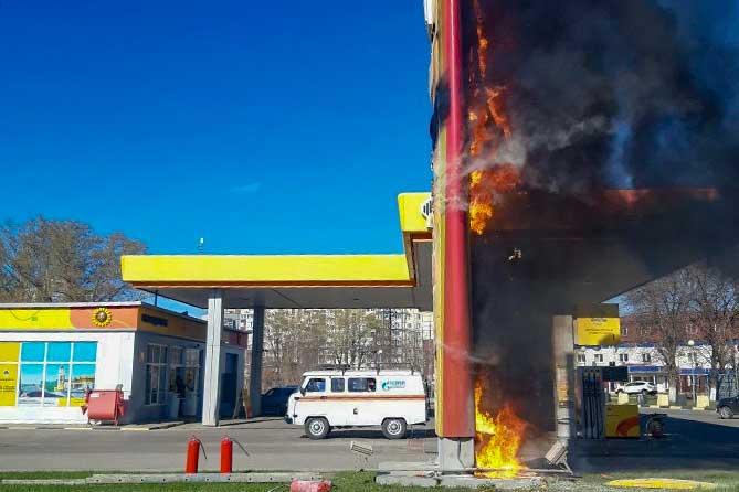 В Тольятти загорелось табло с ценами на автозаправочной станции