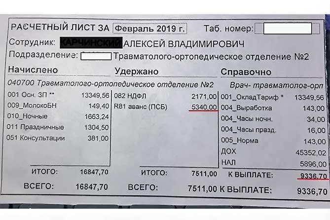 Врач из Тольятти продолжает публиковать данные о своей зарплате