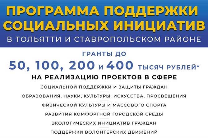 Химия добра в Тольятти: Максимальный размер гранта – 400 тысяч рублей