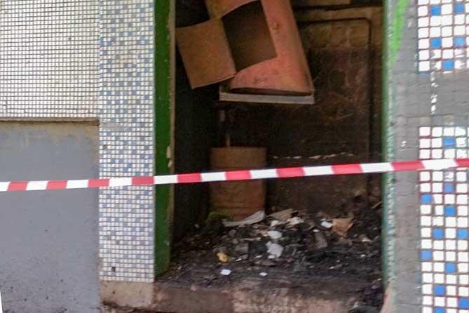 В жилом доме Тольятти разрушился мусоропровод после пожара