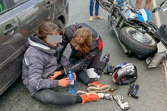 Официальная информация о ДТП с мотоциклом на М-5: Пострадала 17 летняя девушка