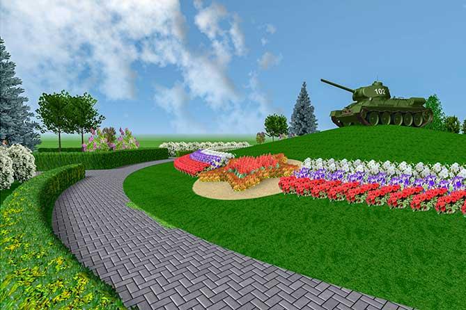 проект сквера Победы в парке имени Сахпрова