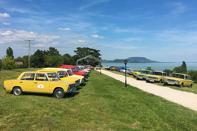 Ретро-автопробег 2019 «Лада Хистори» посетил город Надьканижа в Венгрии