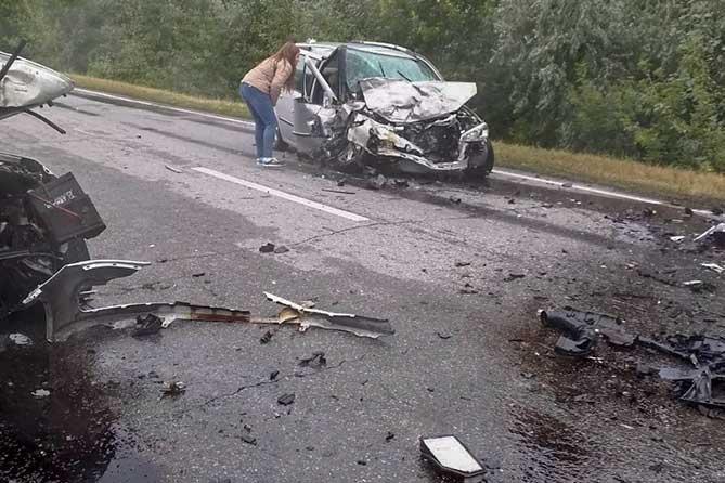 Лобовое столкновение под Тольятти 13 июля 2019 года
