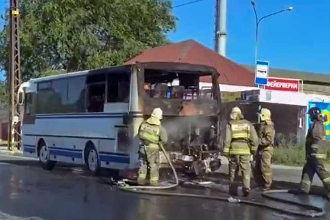 В Тольятти во время движения загорелся пассажирский автобус 10 июля 2019 года