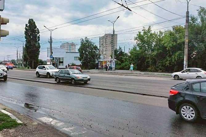 На Автозаводском шоссе в Тольятти уберут островок безопасности