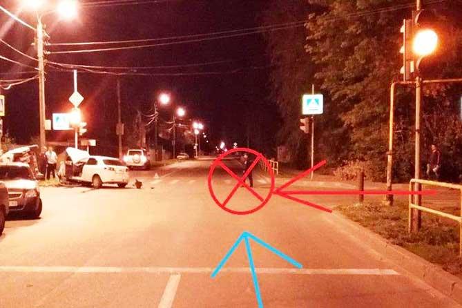 Ночью в ДТП на улице Комсомольской пострадали пассажиры автомобиля «KIA Rio»