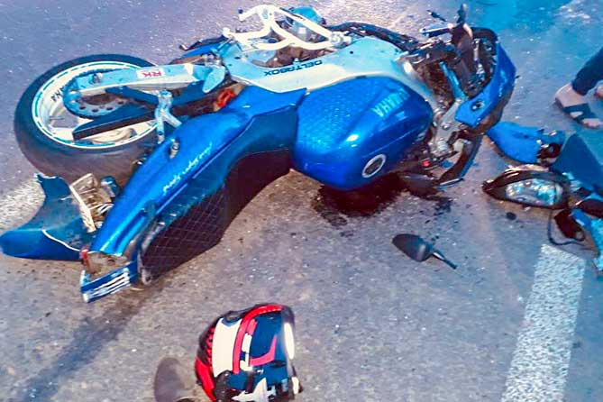 В Тольятти на Южном шоссе произошло ДТП с участием мотоцикла, автобуса и двух автомобилей