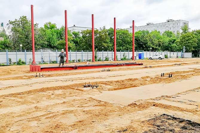 Строительство легкоатлетического манежа и ФОК «Союз» в Тольятти ведется по графику